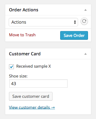 WooCommerce Customer Card