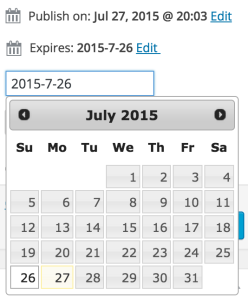 WCEP Admin Datepicker