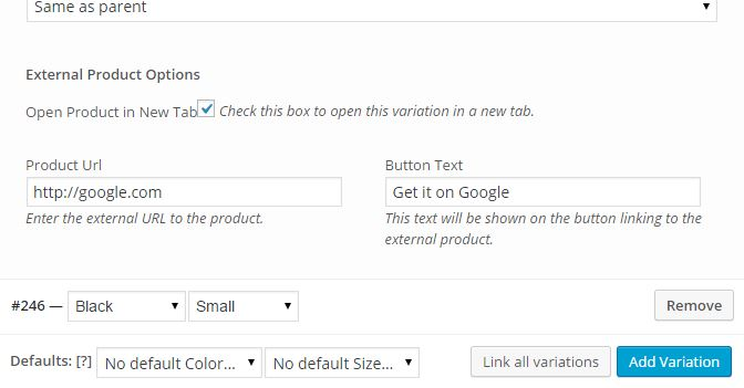 Improved External Products Variation Backend