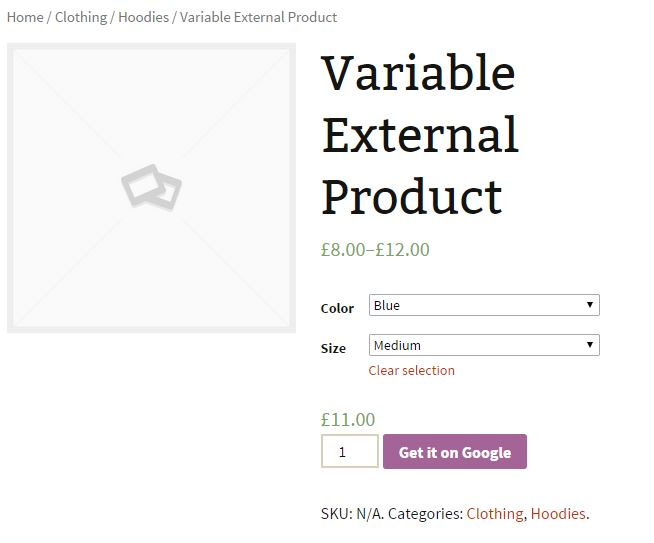 Improved External Product Variation Front End