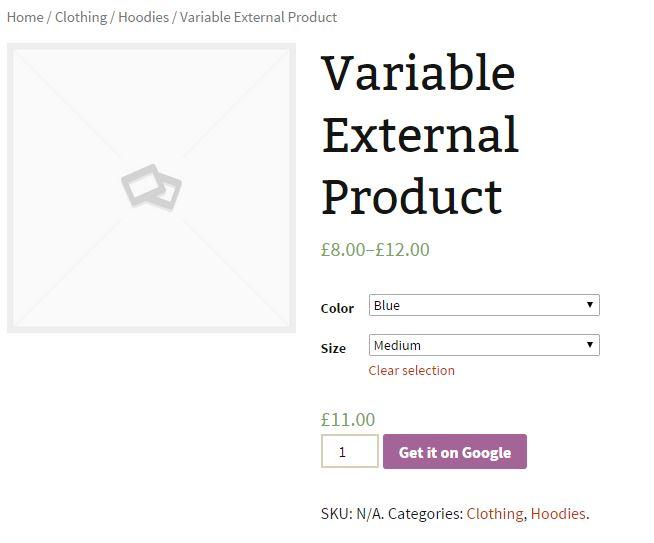 Improved External Product Variation Front End