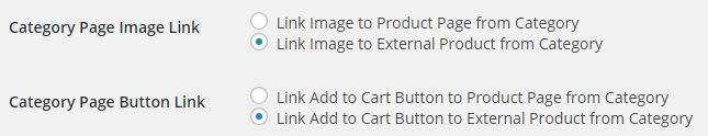 Category page settings - Improved external products pro