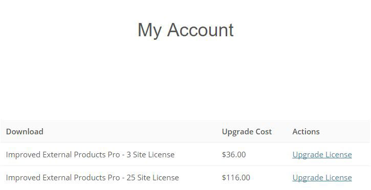 my account licenses